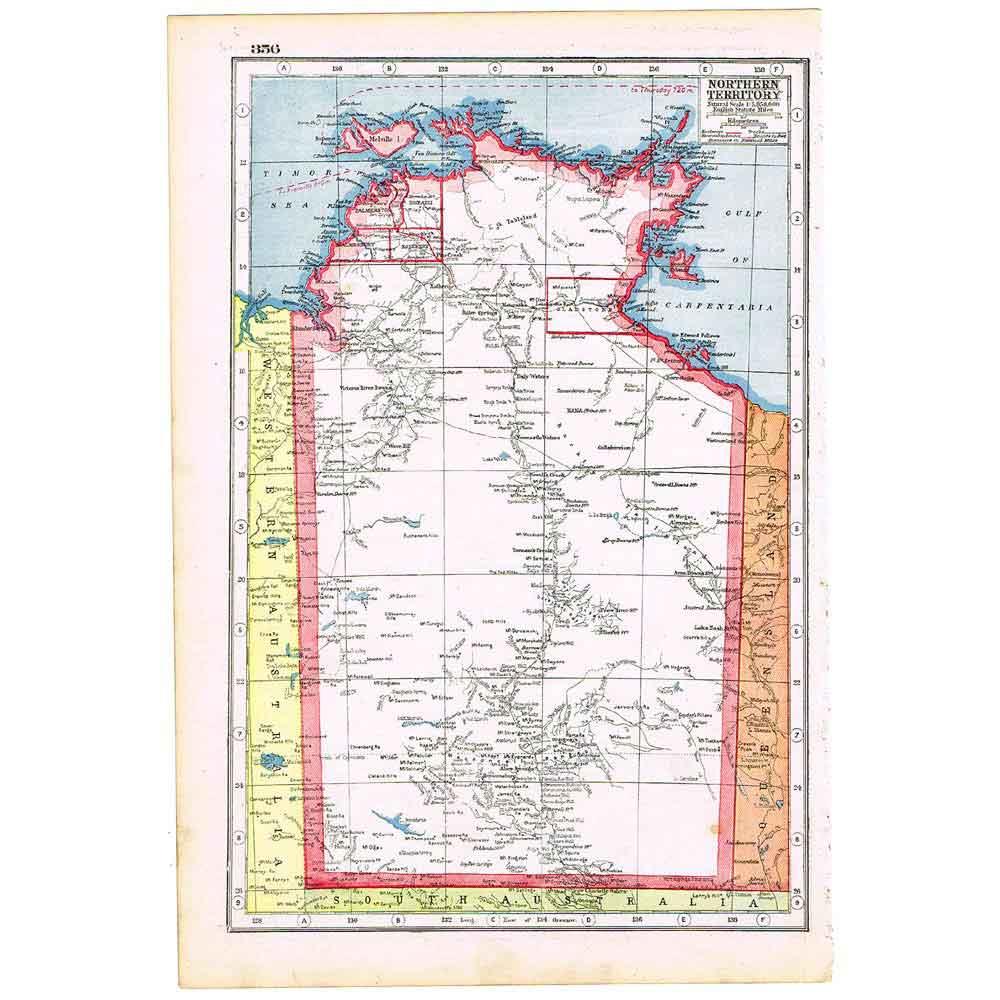 澳大利亚国地图