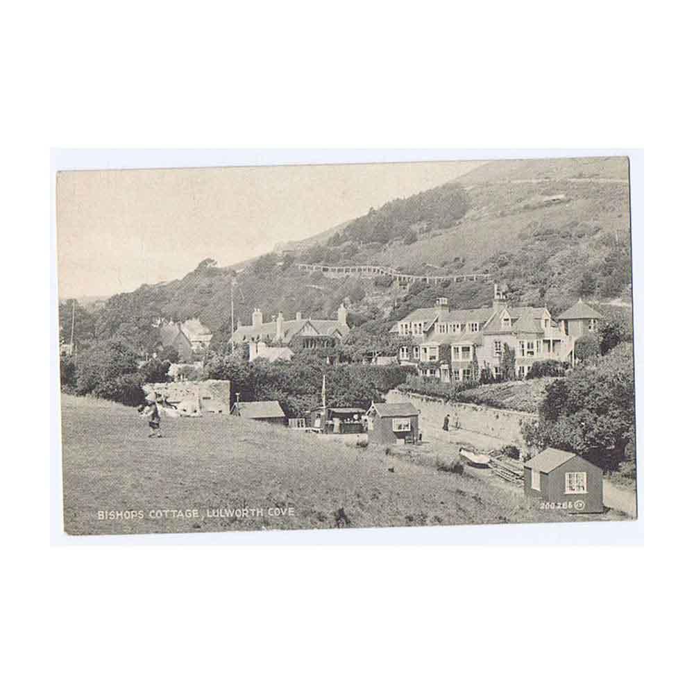 Lulworth Cove Bishop S Cottage Postcard Pub By Chaffey