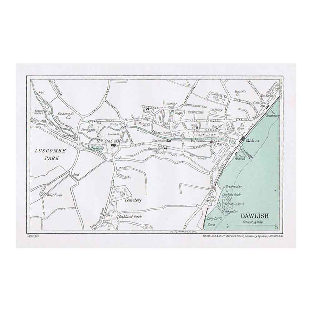Dawlish street plan map of the town vintage map 1935 ebay dawlish street plan map of the town vintage map 1935 publicscrutiny Image collections