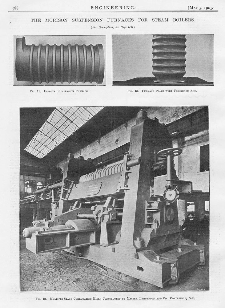 1905 2x Antique Engineering Prints-Morison Suspension Furnaces for ...