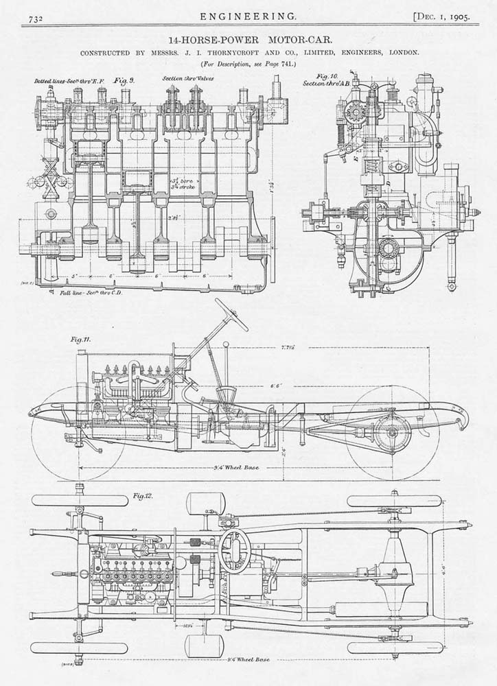1905 3x Antique Engineering Prints-Motor Bike and Engines Olympia ...