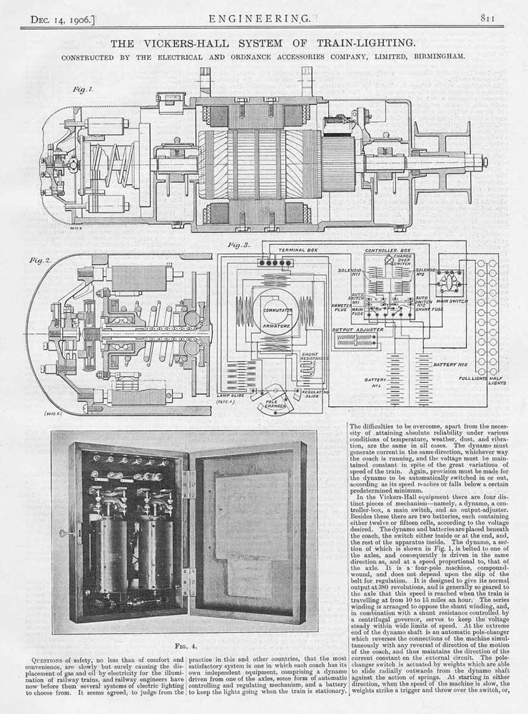 Print Description/Notes 1906 Antique Engineering Print - The Vickers-Hall System of Train Lighting. Constructed by the Electrical and Ordnance Co of ...  sc 1 st  eBay & 1906 Antique Engineering Print - The Vickers-Hall System of Train ...