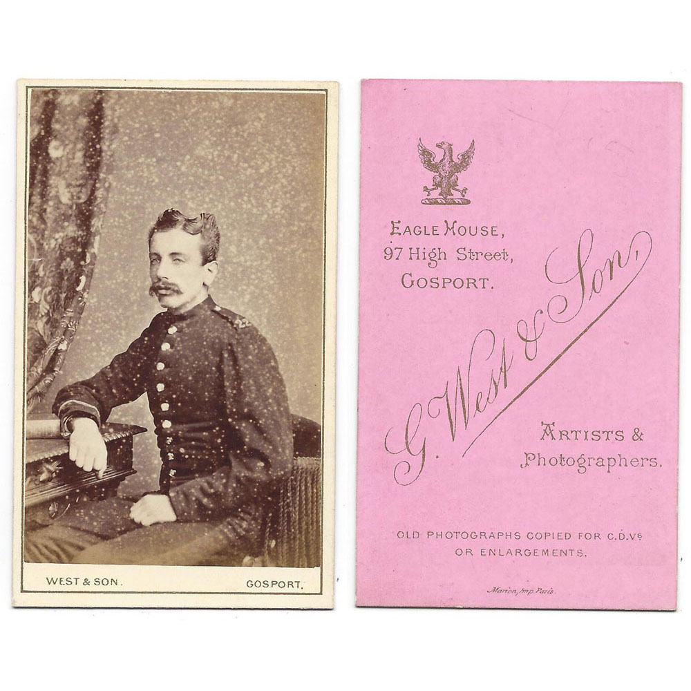 CDV Victorian Soldier Carte De Visite By West Of Gosport