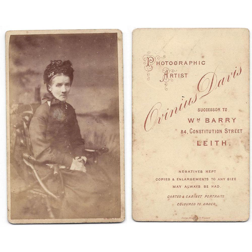 CDV Victorian Lady Carte De Visite Photograph By Davis Of Leith